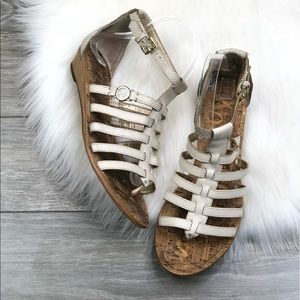 Sam Edelman • White Strappy Gladiator Sandals